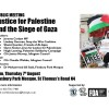 Meeting: Justice for Palestine, Finsbury Park Mosque 7th August